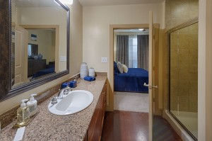 Two Bedroom Apartments for Rent in Houston, TX - Model Bathroom with Bedroom View